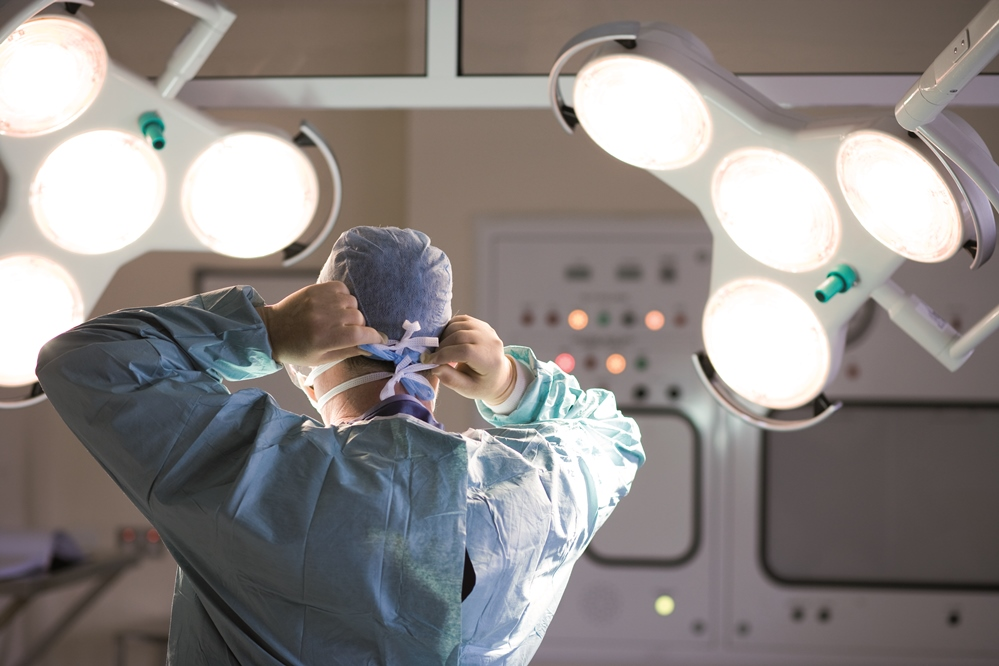 A doctor in the operating room